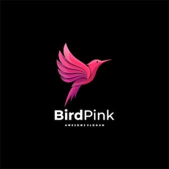Logo illustration bird gradient colorful style.