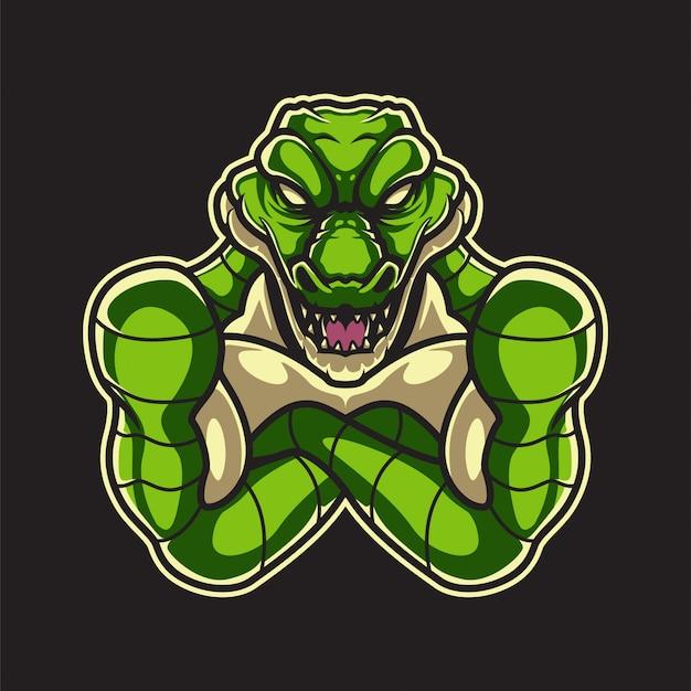 Logo in alligatore
