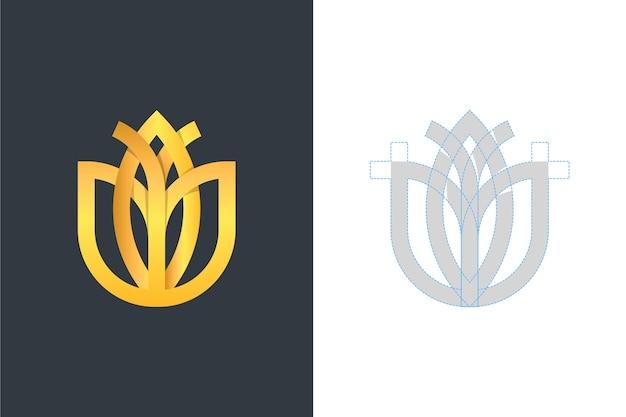Logo in due versioni in stile astratto