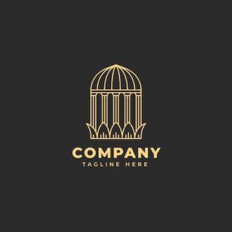 Logo in stile palazzo semplice