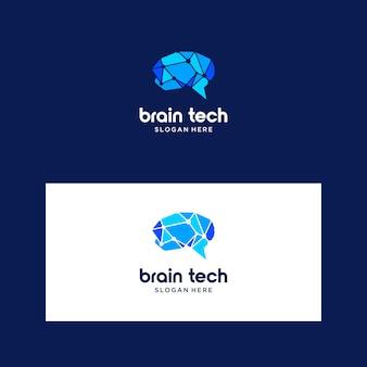 Logo intelligente del cervello