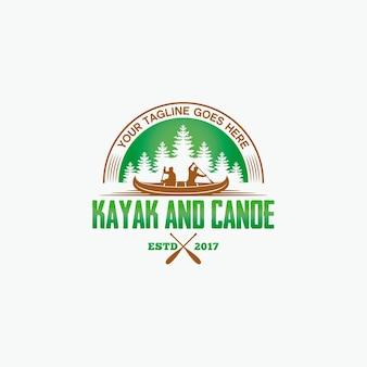Logo kayak water trip