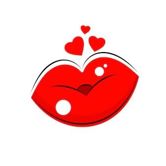 Logo labbra femminili