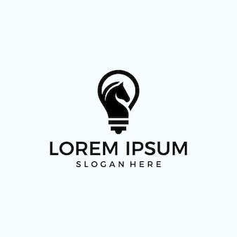 Logo lampada + cavallo (tecnologia)