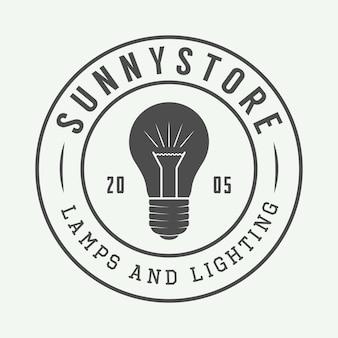 Logo lampada e illuminazione