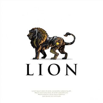 Logo leone disegnato a mano