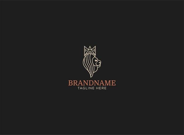 Logo leone minimalista