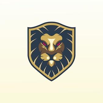Logo leone, modello, illustrazione
