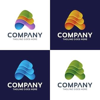 Logo lettera a con colore opzione