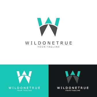 Logo, lettera iniziale w