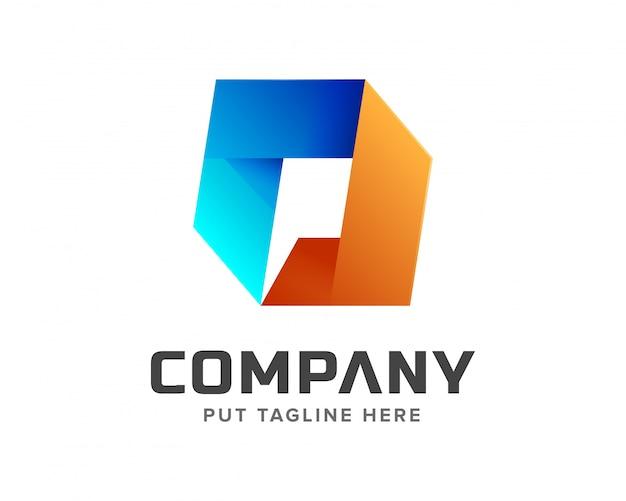 Logo lettera p iniziale creativo