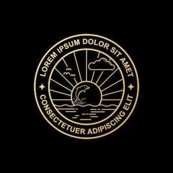 Logo line art delfino