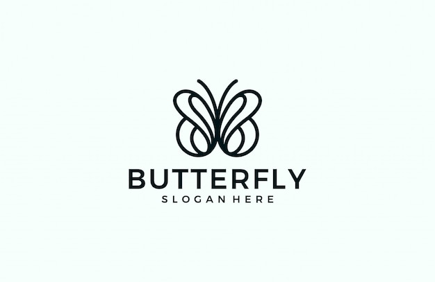 Logo linea farfalla minimalista