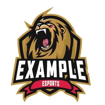 Logo lion e sports