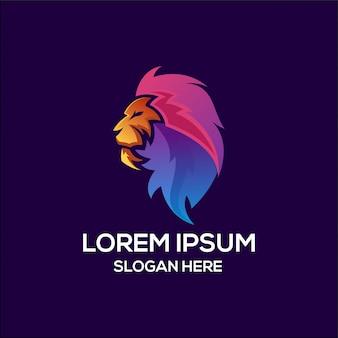 Logo lion king colored