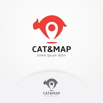 Logo localizzatore di gatti