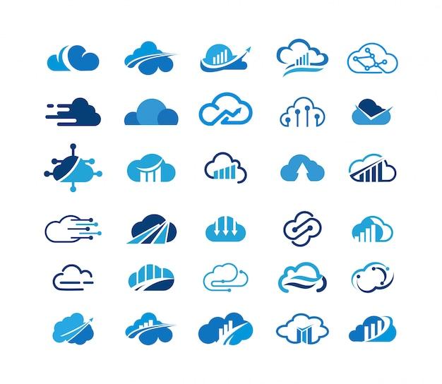 Logo logo nuvola di raccolta