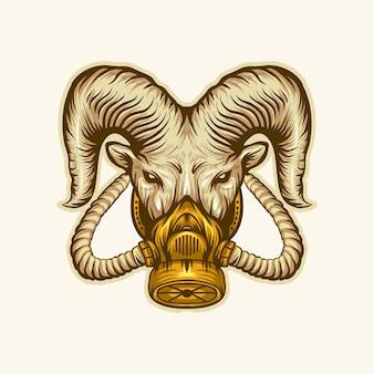 Logo maschera di capra