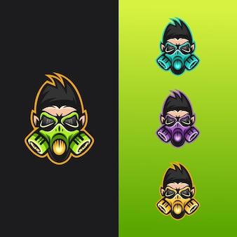 Logo maschera di gorilla