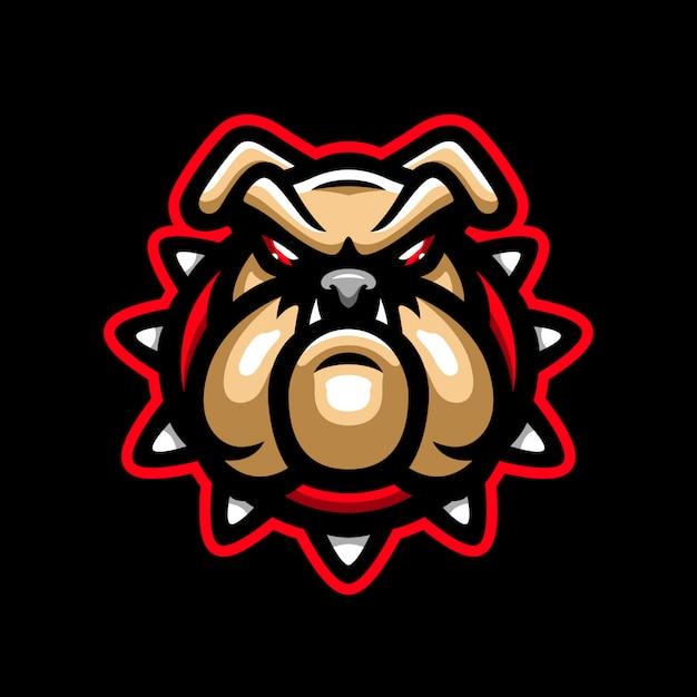 Logo mascotte cane arrabbiato
