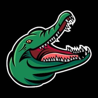 Logo mascotte coccodrillo