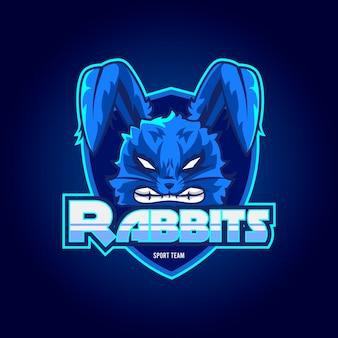 Logo mascotte di conigli