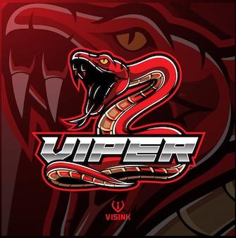 Logo mascotte di vipera serpente