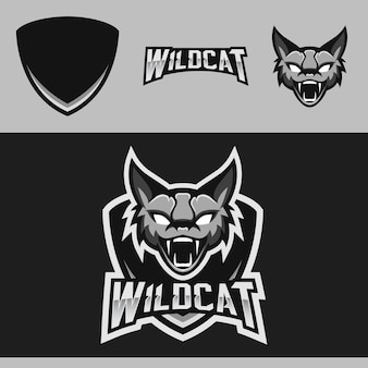 Logo mascotte di wildcat team esport
