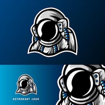 Logo mascotte gioco di astronauta galaxy esport