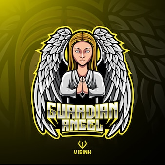 Logo mascotte guardian angel