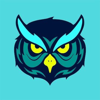 Logo mascotte gufo