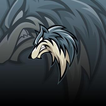 Logo mascotte lupo