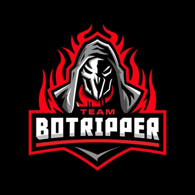 Logo mascotte mietitore