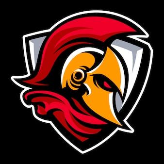 Logo mascotte spartano