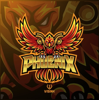 Logo mascotte sport phoenix