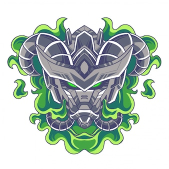 Logo mascotte testa di robot
