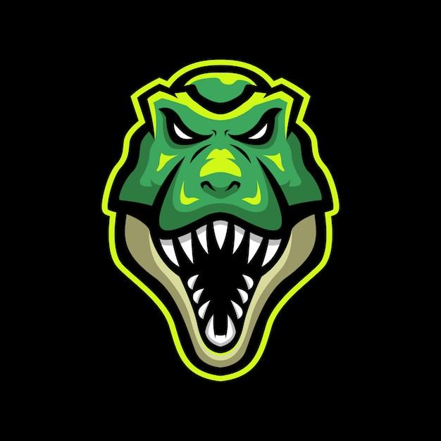 Logo mascotte trex