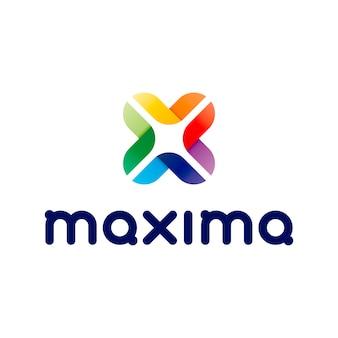 Logo maxima abstract lettera x