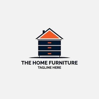 Logo minimalista di mobili a forma di casa
