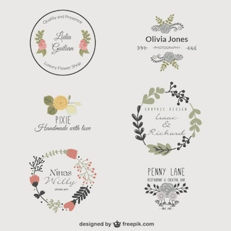 Logo modelli floreali premium