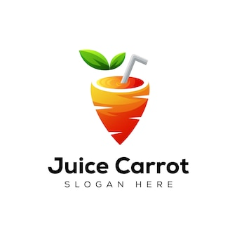 Logo moderno della carota del succo