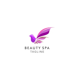 Logo moderno di beauty spa