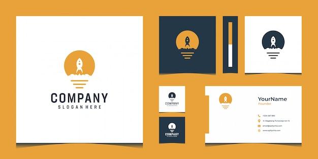 Logo moderno di ispirazione e design per biglietti da visita in colore oro