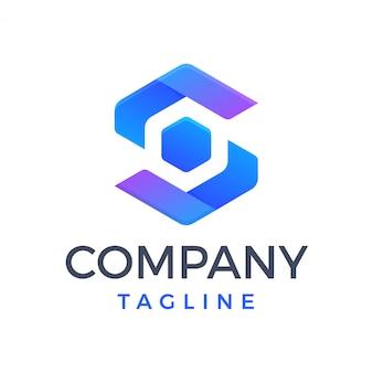 Logo moderno esagonale lettera s
