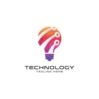 Logo moderno idea techno