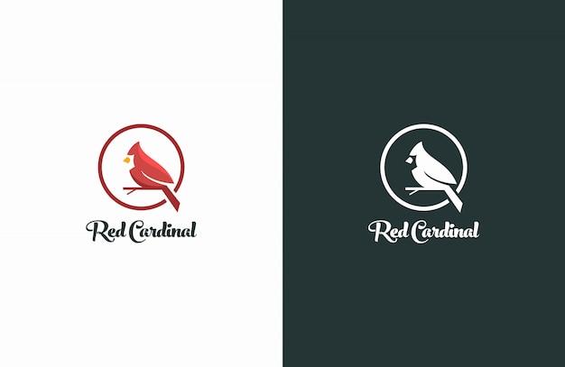 Logo moderno uccello cardinale