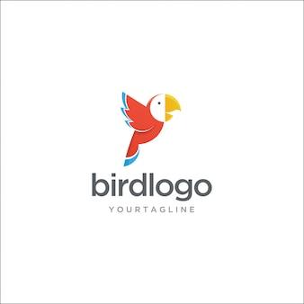 Logo moderno uccello macaw