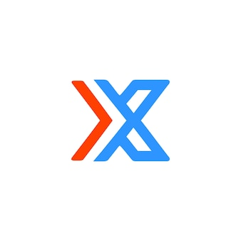 Logo moderno x lettera