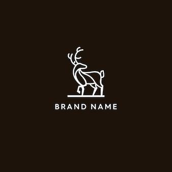 Logo monoline dei cervi