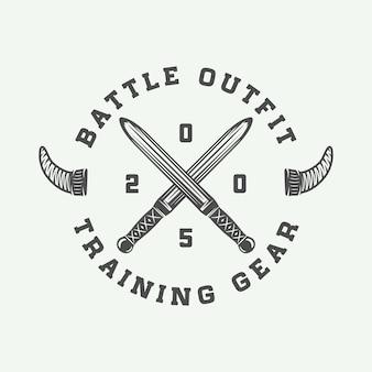 Logo motivazionale dei vichinghi